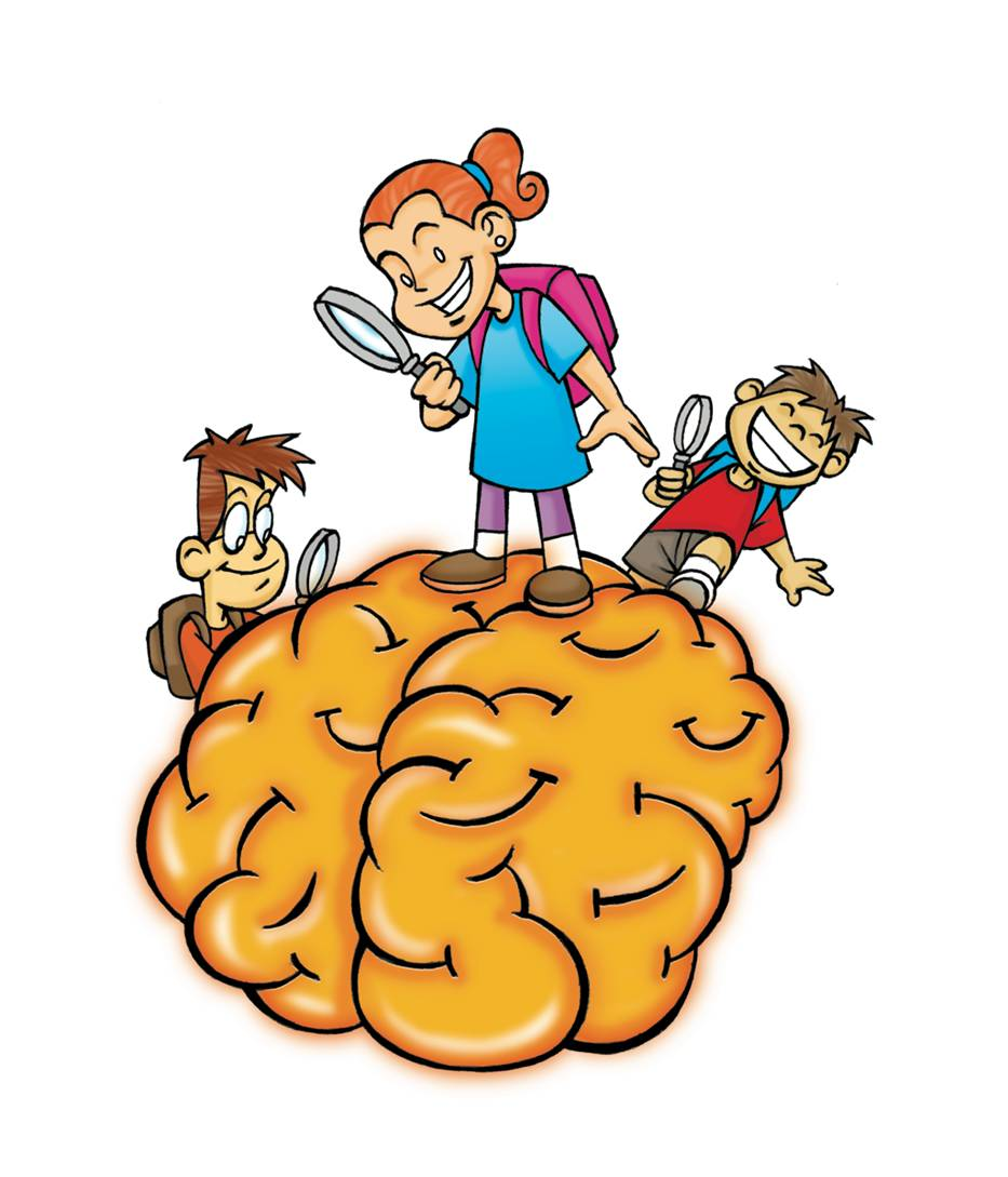 Girl Brain Power Clipart.