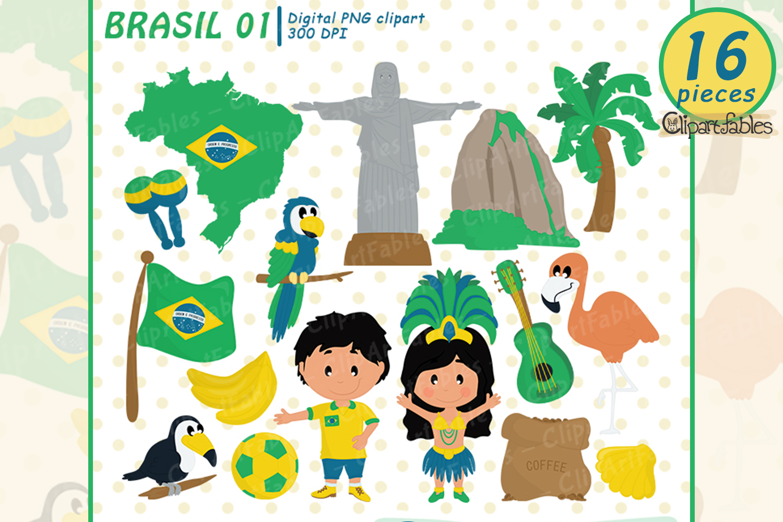 Brasil clipart, Brasilian clip art, Rio De Janeiro, instant.