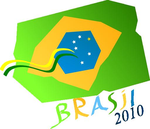Brasil Na Copa 2010 Clipart.