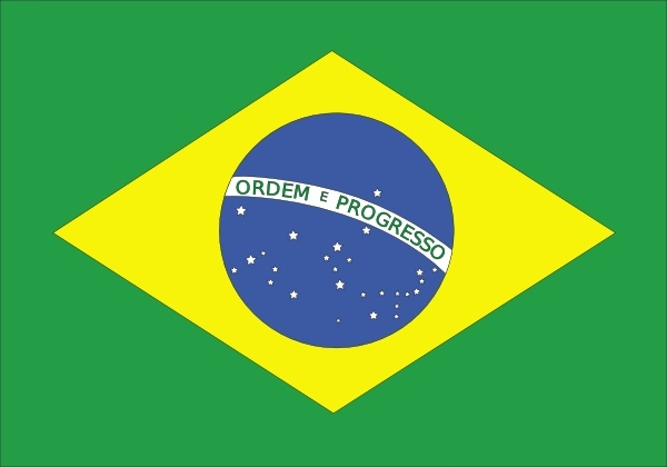 Brazil Flag clip art Free vector in Open office drawing svg.