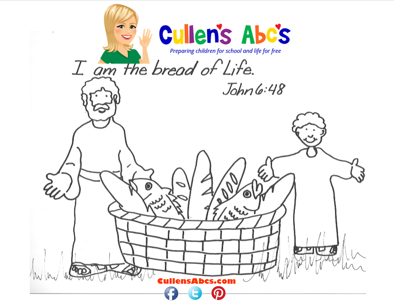 Bible Key Point Coloring Page.