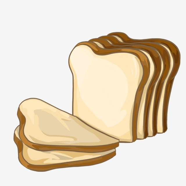 Gourmet Bread Slice Cartoon, Food, Food, Bread PNG Transparent.