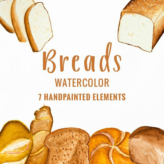 Bread clipart, bakery clipart, food clipart, #art #drawing.