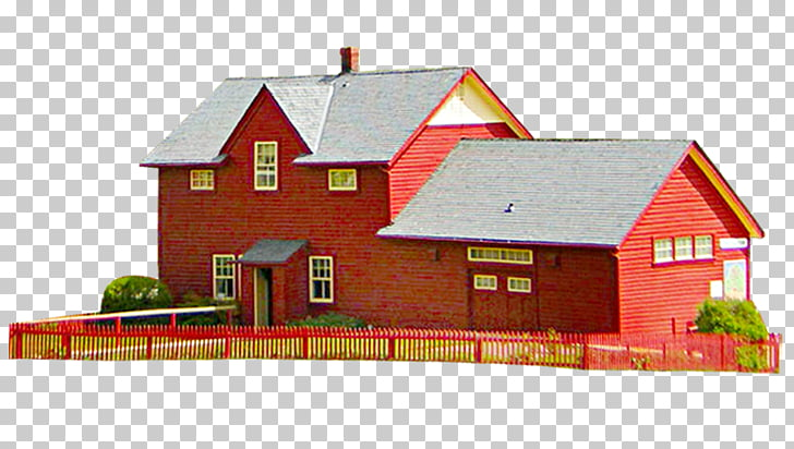 House Brick Villa, Red brick house PNG clipart.