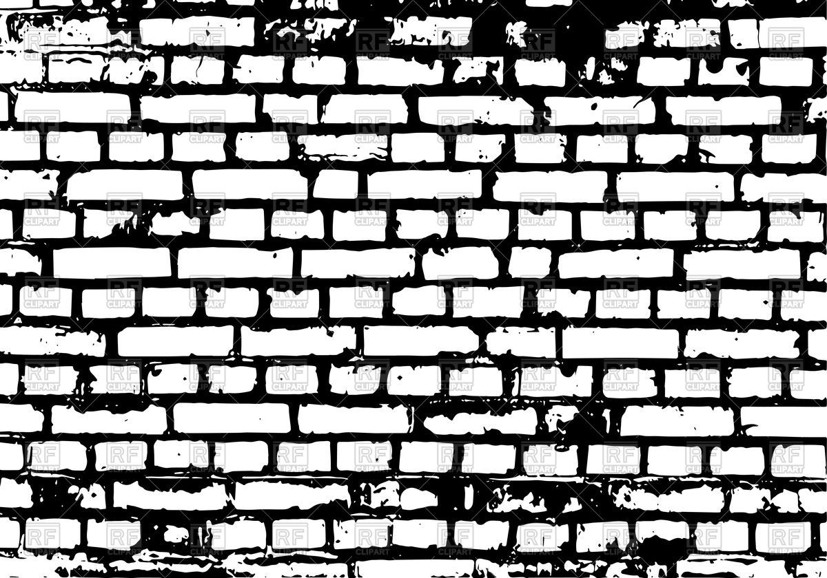 Brick wall black background Royalty Free Vector Clip Art.