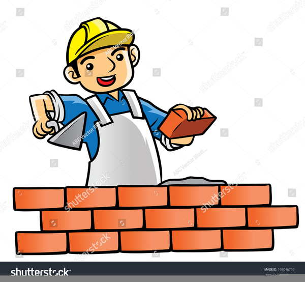 Bricklayer Clipart.