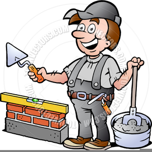 Free Clipart Bricklayer.