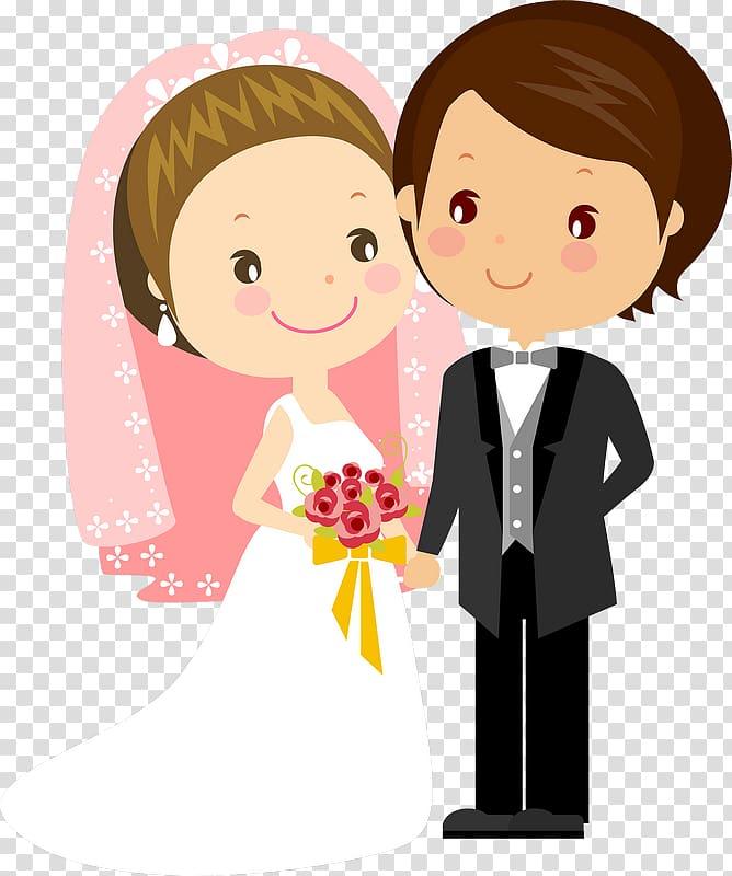 Smiling bride and groom , Wedding invitation Bridegroom.