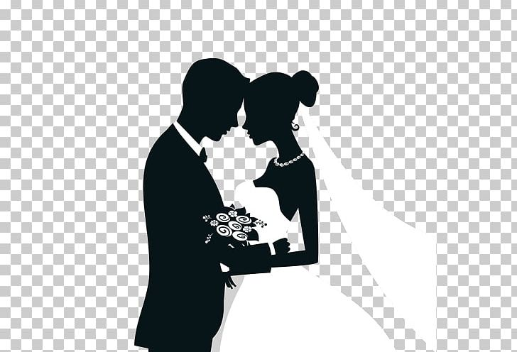 Wedding Invitation Bridegroom Silhouette PNG, Clipart, Black And.