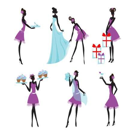 203 Bridesmaids Cliparts, Stock Vector And Royalty Free Bridesmaids.