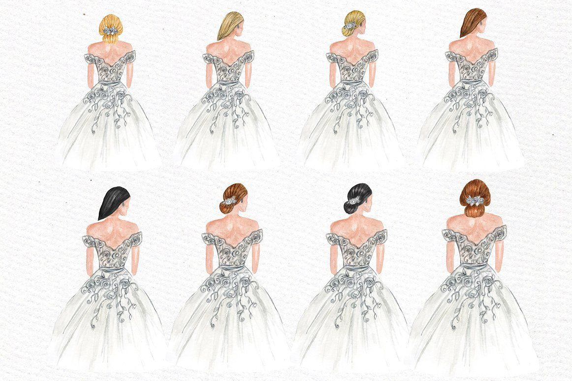 Bride and Bridesmaids clipart #designs#wedding#Perfect.