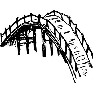 Wooden bridge clipart, cliparts of Wooden bridge free download (wmf.