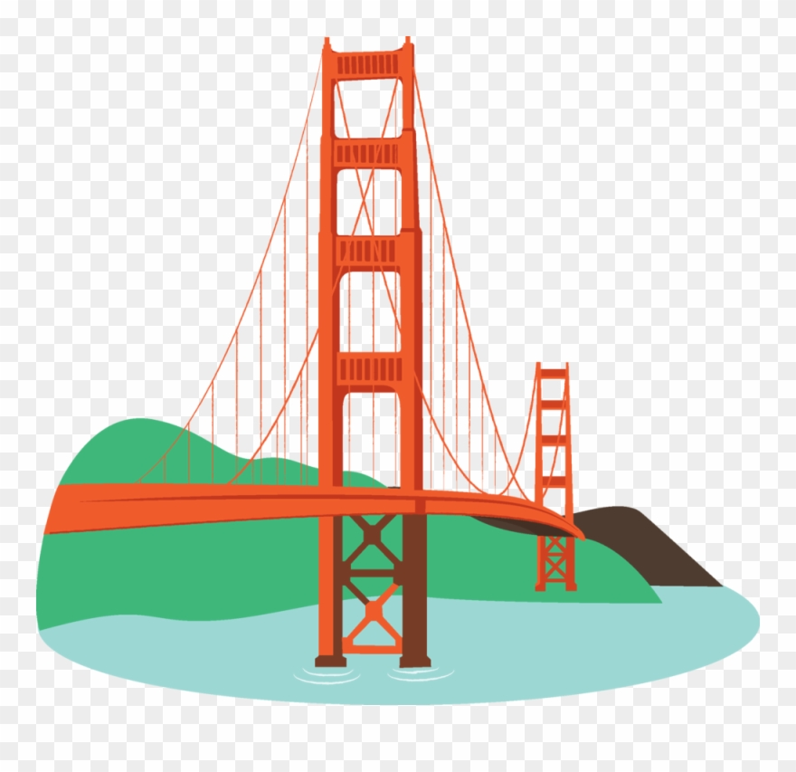 Image Of Bridges Clipart 0 Golden Gate Bridge Clipart.