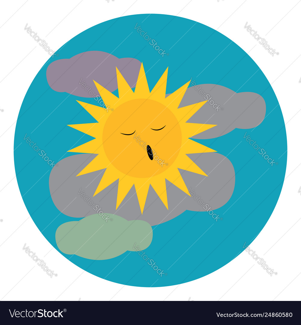 A clipart a blue cloudy sky with bright yellow.