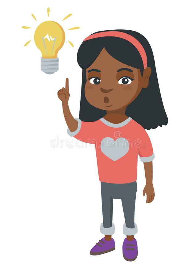 Clever Little Girl Bright Idea Stock Illustrations.