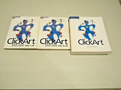 BRODERBUND CLICKART 300,000 Clip Art Images COMPLETE 18 CD.