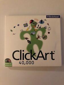 Details about *RARE* Clipart 40,000 Broderbund 3 CD\'s 1997 Windows.