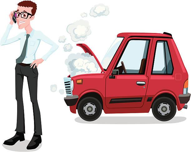 Broken Down Car Clip Art, Vector Images & Illustrations.