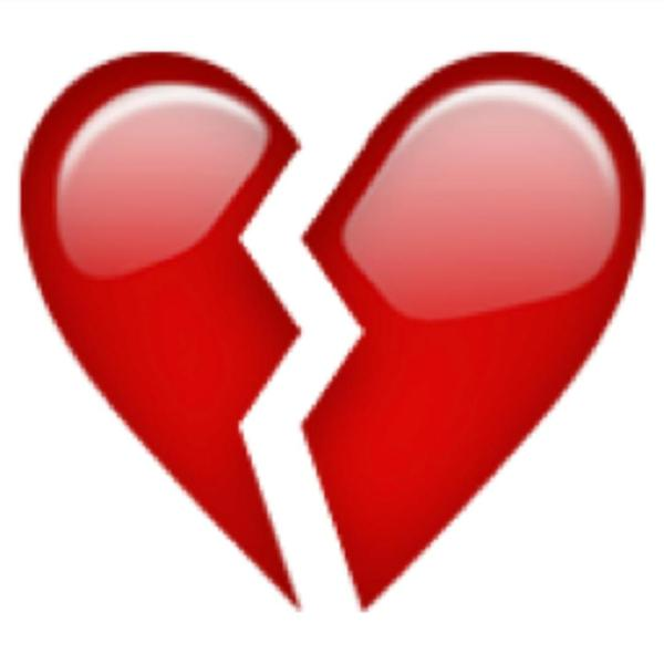 Red Broken Heart Clipart Image.