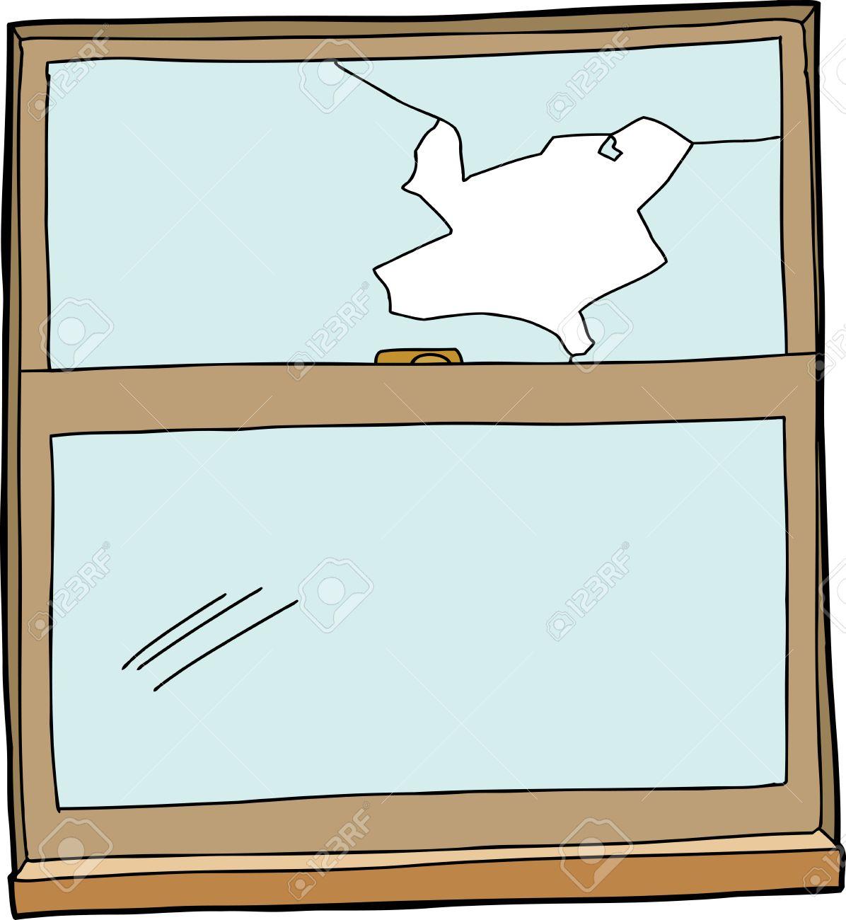 Broken Glass Window Clipart.