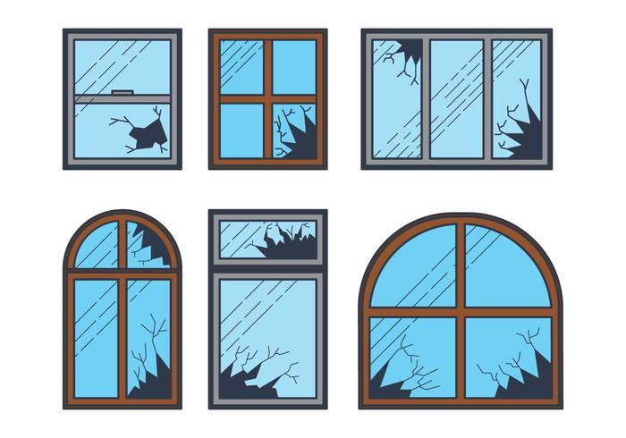 Broken Window Vector.
