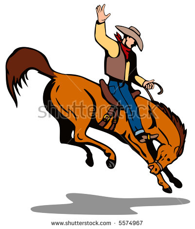 Bucking Bronco Stock Images, Royalty.