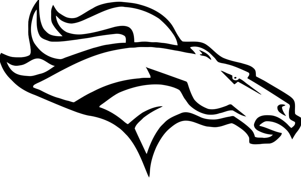 Football Coloring Pages Broncos.