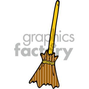 cartoon broom clipart . Royalty.