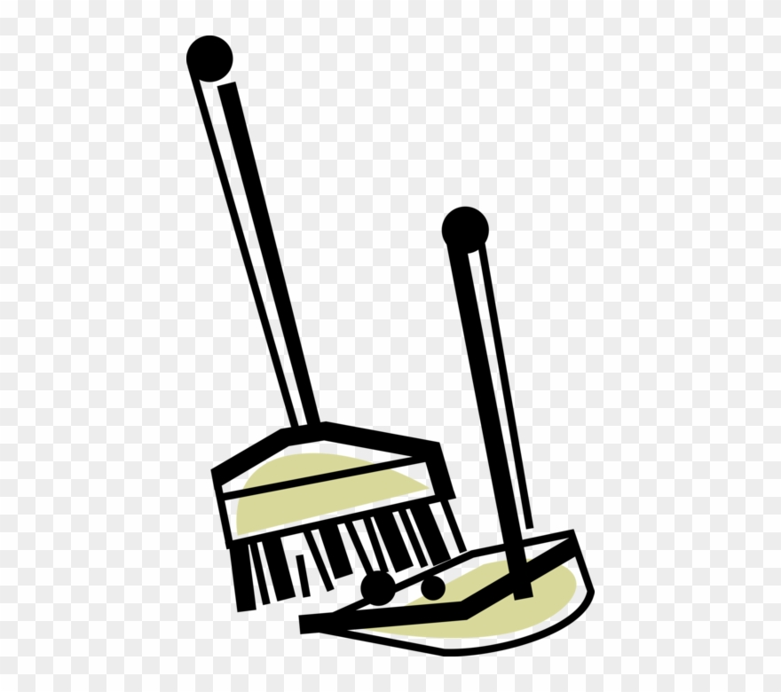 Image Library Broom And Dustpan Clipart.