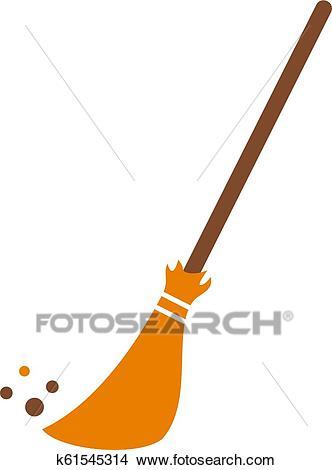 Broom vector icon Clipart.