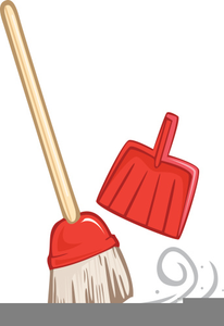 Sweeping Brooms Clipart.