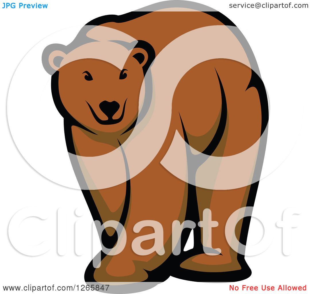 Clipart of a Brown Bear.