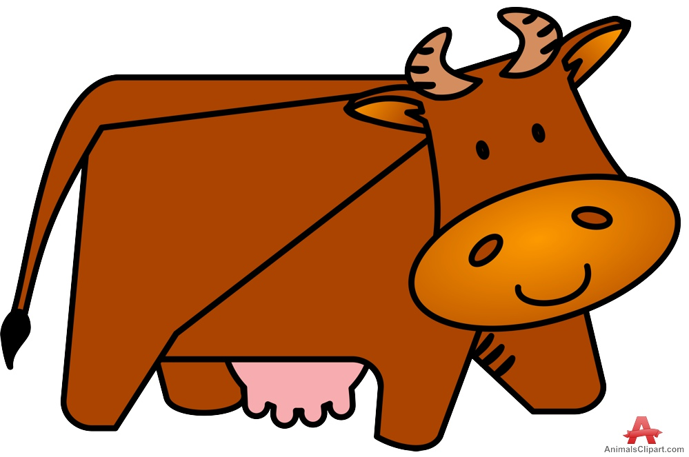 Brown Cow Clipart.