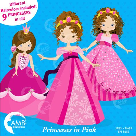 Princess Clipart Fairy Princess in Pink Fairy princesses as.