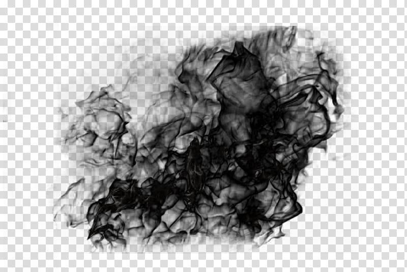 Amaterasu brush effect, black smoke artwokr transparent.