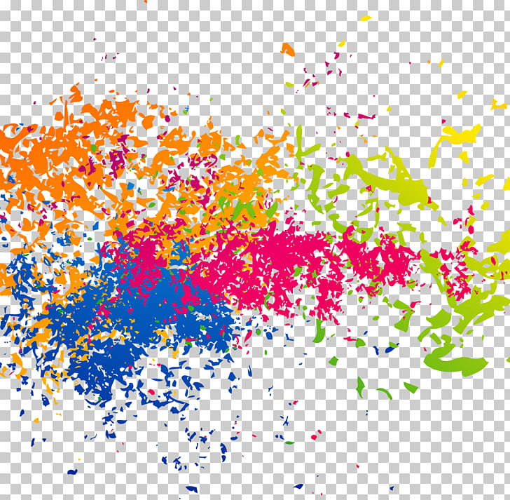 Ink Brush effect, photo of paint splatter PNG clipart.