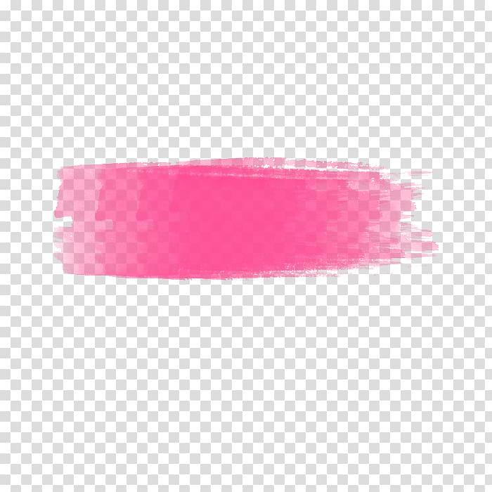 Pink paint stroke illustration, Microsoft Paint PaintShop.