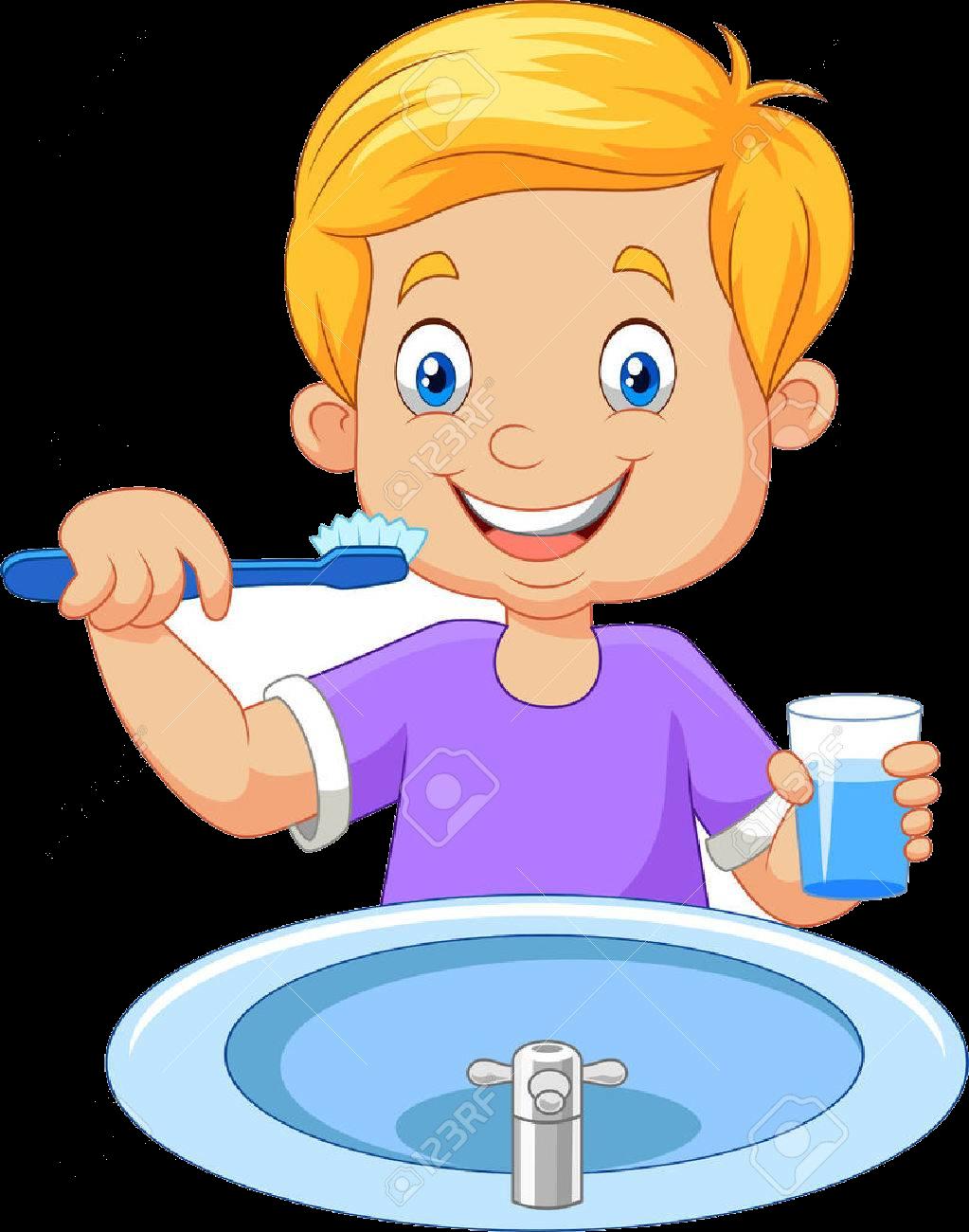 Brush Teeth Boy Brushing Clipart Transparent Png.