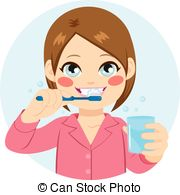 Girl brushing teeth clipart 2 » Clipart Station.