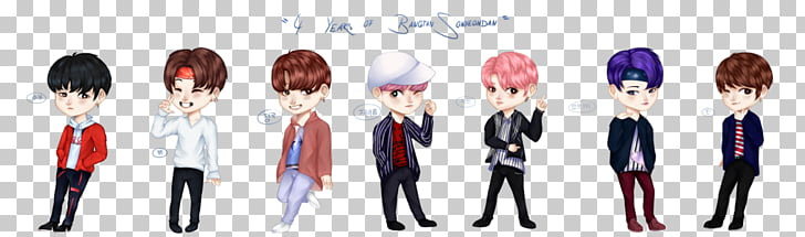 Anime Fan art BTS, Bts fan art PNG clipart.