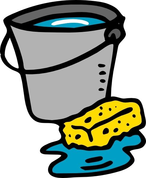 Cleaning Bucket Sponge Water clip art Free vector in Open.