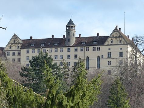 heiligenberg castle, closed, renaissance style.