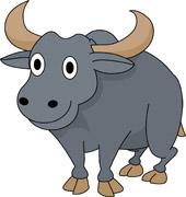1867 Buffalo free clipart.