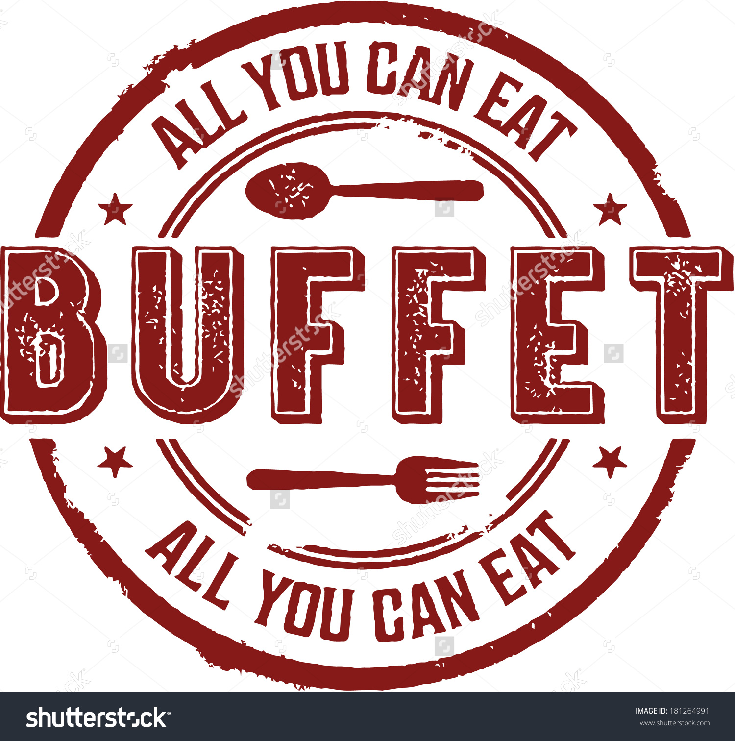 All You Can Eat Buffet Clipart.