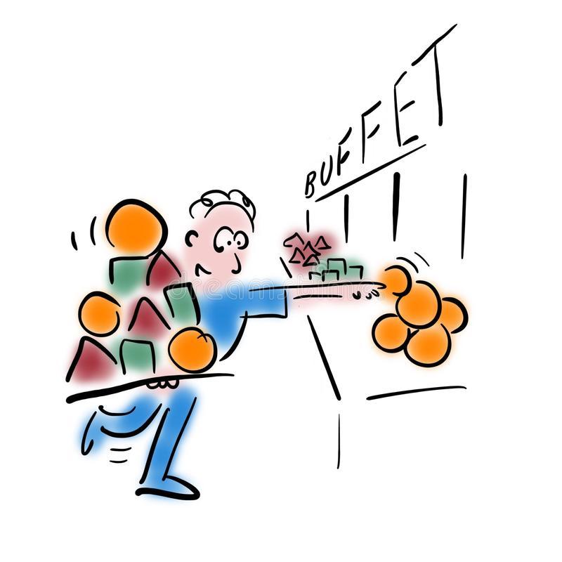 Food Buffet Stock Illustrations.