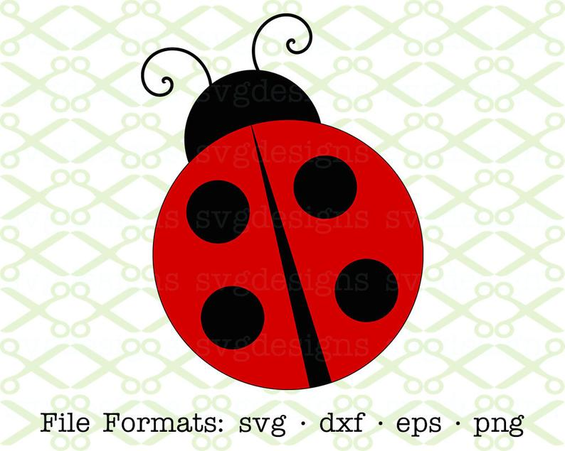 LADYBUG Svg Dxf, Eps, Png; Ladybug Clipart, Bug Svg, Lady Bug Svg, Ladybug  Vector, Cricut & Silhouette, Digital Cut Files Svg.