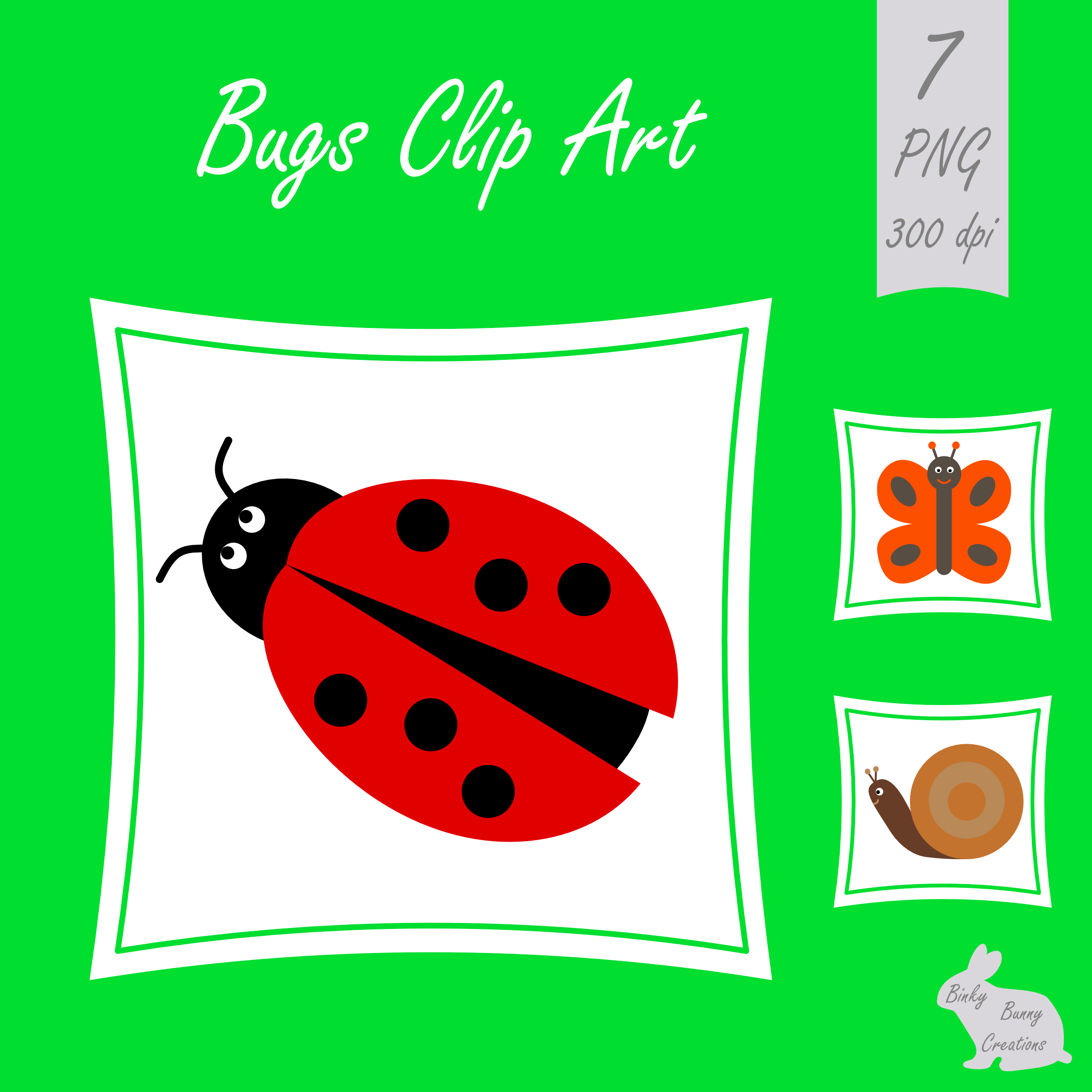 Bugs Insects Clip Art Clipart Images Graphics Spring Summer.