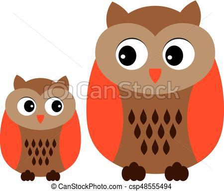 lindo, clipart., búho, búhos, vector, owls., bebé, caricatura, illustration..