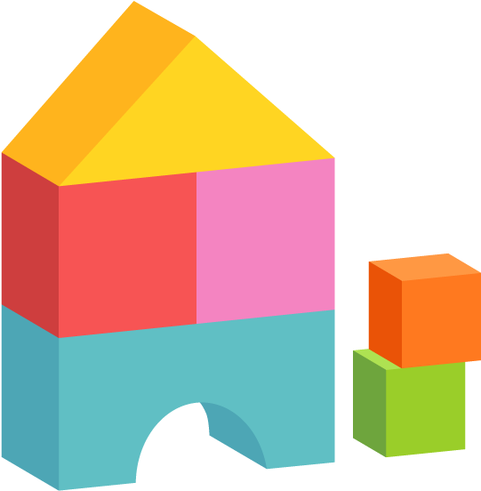 Colored Building Blocks Free Png And Vector.