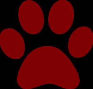 Bulldog Paw Print.